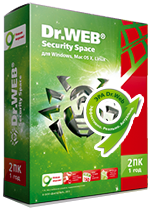 Антивирус Dr.Web Security Space 1 лицензия на 1 год