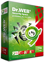 Антивирус Dr.Web Security Space 2 лицензии на 1 год
